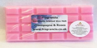 85 gram Highly Scented Wax Melt bar (CHAMPAGNE & ROSES)